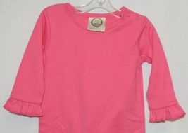 Blanks Boutique Long Sleeve Pink Snap Up Ruffled Romper 12 months image 3