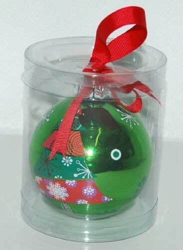 Ganz EX17055 Christmas Tree Ball Ornament Color Green Glass