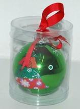 Ganz EX17055 Christmas Tree Ball Ornament Color Green Glass image 1