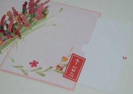 Lovepop LP2318 Floral Love Pink Pop Up Card White Envelope Cellophane Wrapped image 5
