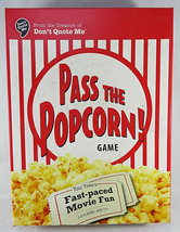 BOARD GAME Pass the Popcorn Game Chick Flick and Guy Pick Cards WIGGLES ... - $15.00
