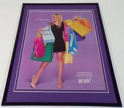 Hilary Duff 2003 Got Milk Mustache Framed ORIGINAL 11x14 Advertising Dis... - $32.36