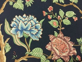 P Kaufmann Upholstery Fabric Large Floral Print 7/8th yard - $14.96