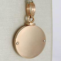 Pendant Rose Gold Medal White 750 18k, Round, Guardian Angel in Prayer image 3