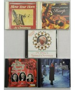 Lot of 5 Preowned Christmas CDs Tony Bennett Blow Your Horn Harp Holiday... - $21.14