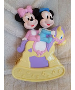 """Mickey Minnie Mouse Crib Musical Wind Up Toy Vintage Disney Arco 9.5"""" - $38.65"""
