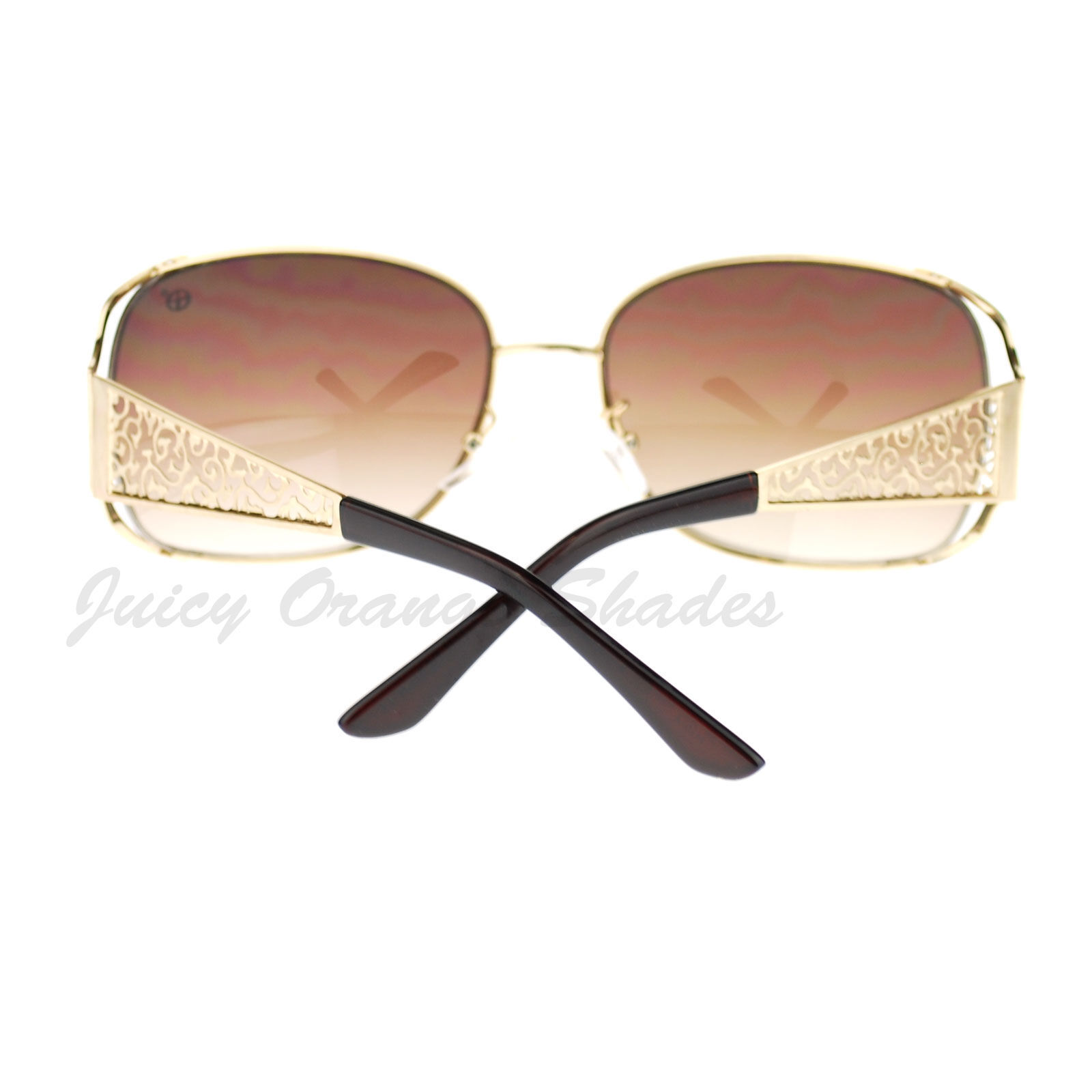 Vintage Fashion Womens Sunglasses Rectangular Open Side Frame