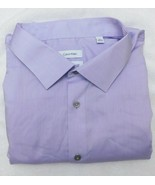 Calvin Klein Light Purple Big & Tall Performance Non Iron Dress Shirt 20... - $24.95
