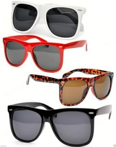 Very Large Sunglasses Black Lenses Assorted Frames Retro - $7.99
