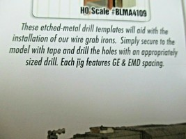 """Atlas  # BLMA4500 Grab Iron Drill Template for 15"""", 18"""", 20"""", and 24""""  HO-Scale image 2"""