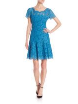 Diane Von Furstenberg Dvf Stretch Lace Fifi Dress 8 10 12 $428 New, Peakcock - $129.99