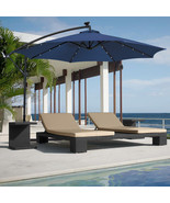 Patio/Garden/Deck 10ft Solar LED Umbrella Easy Tilt Adjustment - Blue - $160.00