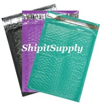 3-300 #0 6x10 ( Black Purple & Teal ) Color Poly Bubble Mailers Fast Shi... - $3.49+