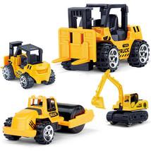 4Pcs/Set Mini Alloy Engineering Car Diecasts Tractor Toy Vehicle Dump Tr... - $12.99
