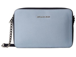 Michael Kors Jet Set Travel Large East west CrossBody pale blue /Admiral... - $87.12