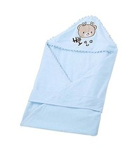 Pure Cotton Thin Swaddling Clothes/Blanket/Bathrobe Soft Comfortable,Blue image 2