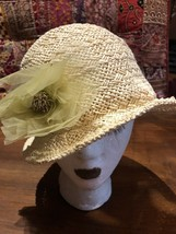 Vintage Crochet Sea Grass Sun Beach Hat - $27.72