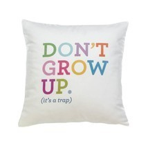 Couch Throw Pillows, Decorative Throw Pillow White With Fun Text - Polye... - $29.99