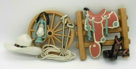 Western Cowboy Ranch Wall Hanging Decor Set 2 Plastic Southwestern Vinta... - $15.83