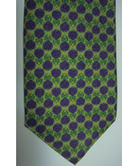 NEW Peter Blair Green With Clusters of Purple Grapes Silk Tie USA - $44.98
