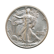 1942 S Walking Liberty Half Dollar - Gem BU / MS / UNC - $48.00
