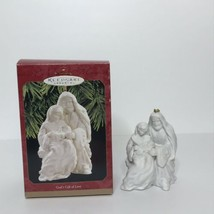 "Hallmark Keepsake Ornament God's Gift of Love Joseph Mary Baby Jesus 4"" ... - $14.83"