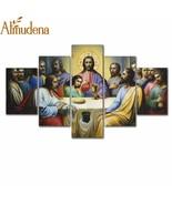 Almudena® 5Pc/Set HD Printed Jesus The Last Supper Home Decoration Livin... - $17.56+