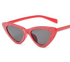 Luxury Cat Eye Women Lady Sunglasses Rhinestone Dots Sexy UV400 Protecti... - £7.56 GBP