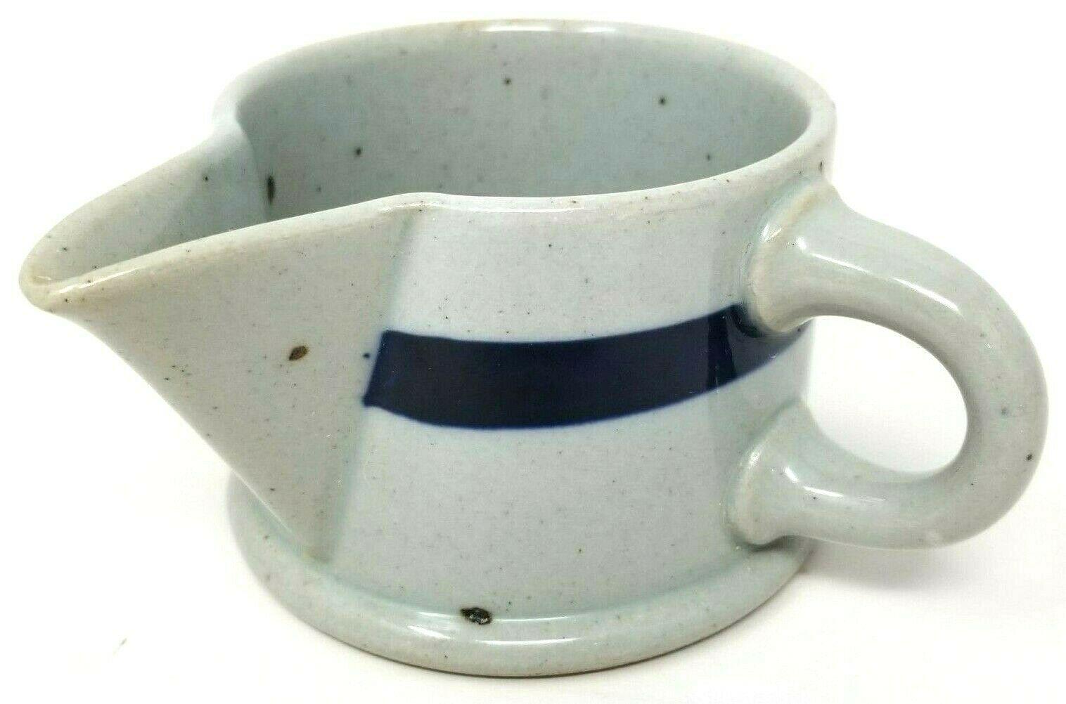 Dansk BLT Niels Refsgaard Blue Banded Speckled Stoneware Creamer  - $41.75