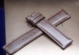 New Gucci 16 MM Smooth Leather Band - Brown  -Generic Clasp (16.113GC) - $31.95