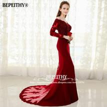 6ab21f3b406 Mermaid Lace Top Bodice Slim Line Long Prom Dresses Charming Wedding Par...  -