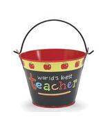 Teacher Gifts    485193 World's Best Teacher Pail Tin - $8.95