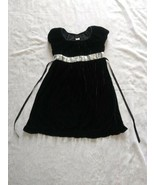 Girls Black Velvet Dress with Silver Sequins Holiday Editions Size  L 10... - $28.04