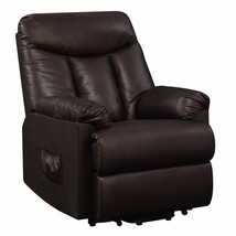Power Lift Recliner Leather Furniture Home Theater Chair Assist Renu Laz... - $1,415.70