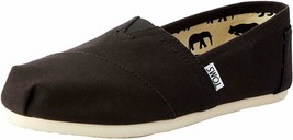 NEW Toms Women's The Venice Collection Classic Black Canvas Slip On Flats Shoes image 2