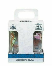 Disney Parks Ink & Paint Drinking Glass Set 2 '40s '50s New Mr. Toad Tin... - $49.49
