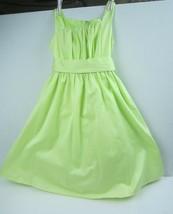 David's Bridal Girls' Bubble Dress Size 7 Style H1256 Color KeyLime - $27.87