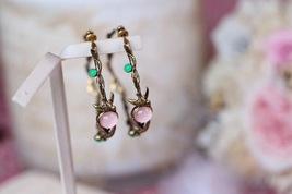 AUTHENTIC Christian Dior 2019 LE PRINTEMPS DE DIOR Enamel Hoop Earrings RARE image 2