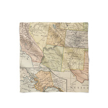 Vintage South West USA Map Satin Style Scarf - $25.99+