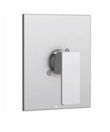 Aquabrass Square Trim With Madison Handle Brushed Nickel S400095BN - $31.17