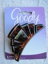 1 Goody Classic Medium Tortoiseshell Brown Sculpted Curve Plastic Jaw Claw Clip - $8.00