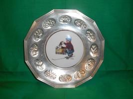 "8"" Silver Plated, Brown & Bigelow Display Plate, by Gorham, Circa 1980. - $7.99"