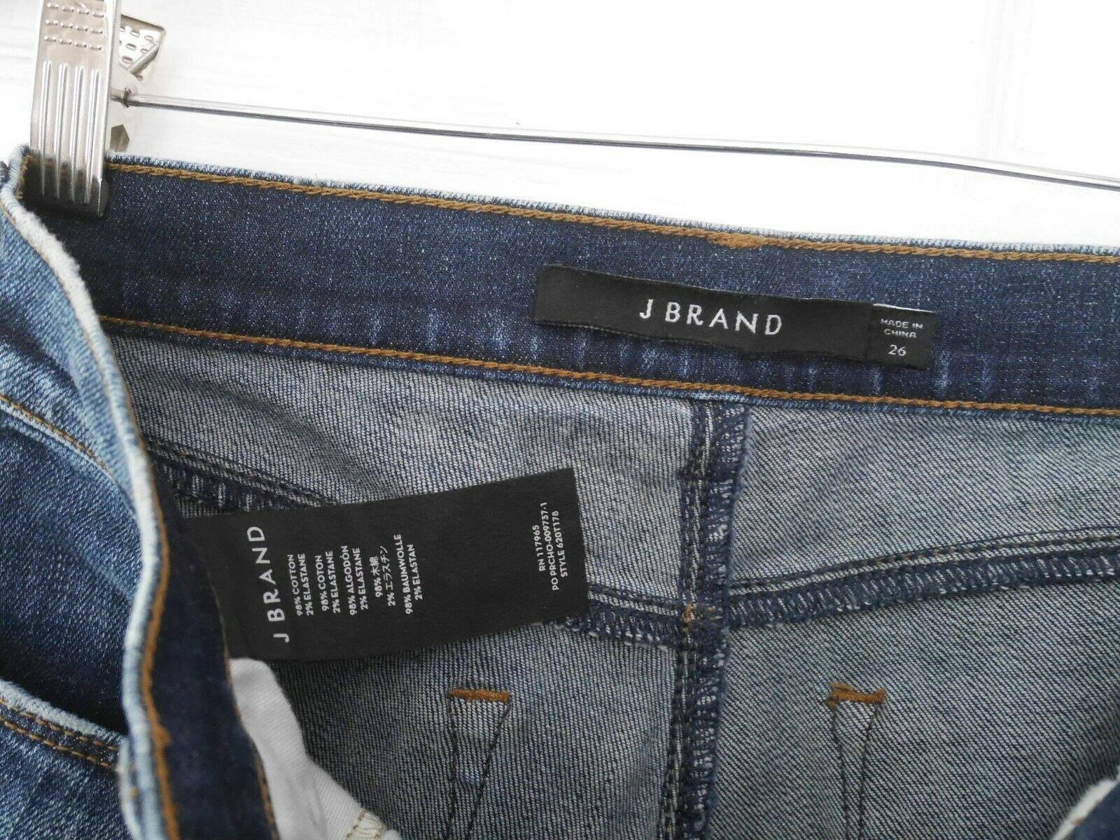 $228 J Brand - 620 Mid-Rise Super Skinny in Dark Erosion (Destroyed) - Size 26 image 8