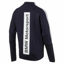 Puma Bmw Motorsport Men's Premium MSP T7 Sweat Jacket Team Navy Blue 57277501 image 2