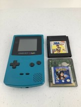 Nintendo Game Boy Color Blue Handheld System With Harry Potter NBA Games CGB-001 - $60.76
