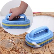 Plastic Handle Sponge Bath Brush Cleaning Tile Glass Clean Brushes - $19.77
