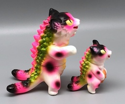 Max Toy Hot Pink Spotted Negora and Micro Negora w/ Fish - Rare image 6