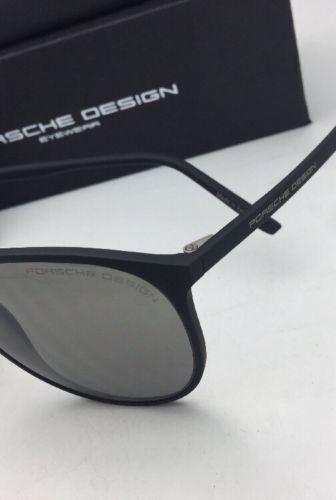 New PORSCHE DESIGN Sunglasses P'8596 B 58-15 140 Matte Black Frame w/Grey Lenses