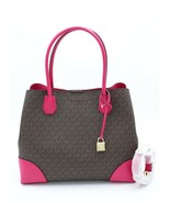NWT MICHAEL Michael Kors Mercer Gallery Brown Pink Signature Center Zip ... - $198.00