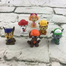 Paw Patrol Figures Cake Topper Toys Lot Of 6 Rubble Skye Marshall Zuma Chase - $16.82